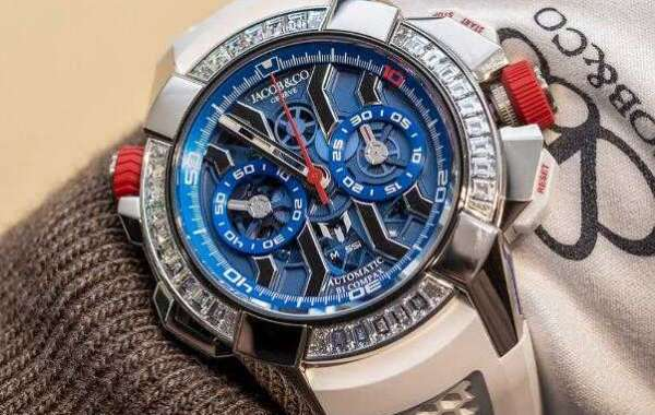 Jacob & Co. Epic X Chrono Messi White Gold, Titanium And Baguette Watch Replica EC423.32.OE.LL.J Jacob and Co Watch